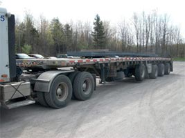 4 axle SPIF, 48' Aluminum trailer with Super Single Tires